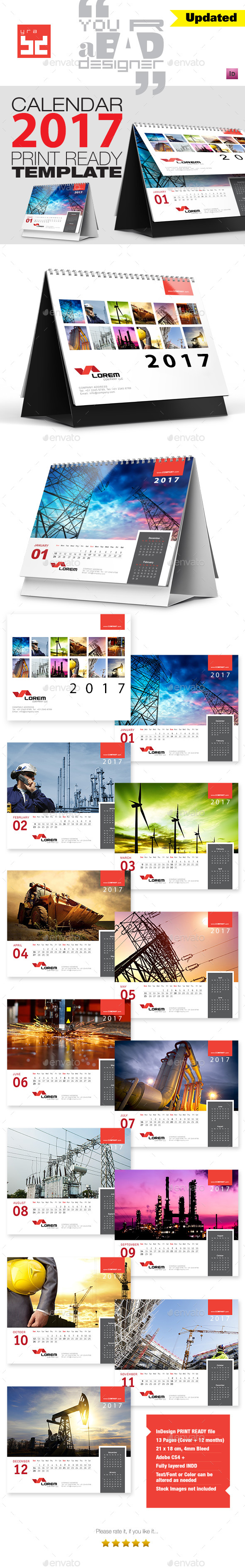 Premium Desktop Calendar - Calendars Stationery