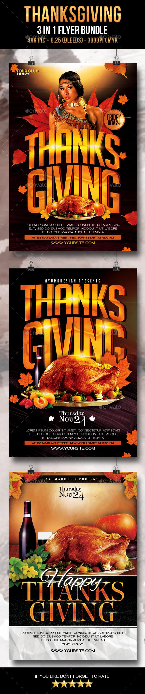 Thanksgiving Flyer Bundle - Events Flyers