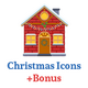 Christmas Flat Icons Set - GraphicRiver Item for Sale