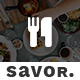 Savor - Restaurant Website Template Nulled