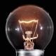 Edison Lamp Light Bulb Blinking Over Black Background - VideoHive Item for Sale
