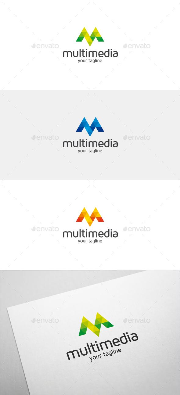 Multimedia M Letter Logo - Letters Logo Templates
