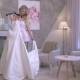 The Girl Dancing With Wedding Gown In Boutique - VideoHive Item for Sale