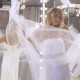 The Girl In Wedding Dress Dancing Near Mirror - VideoHive Item for Sale