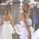 Blonde Bride Dancing Near Mirror In Wedding Dress - VideoHive Item for Sale