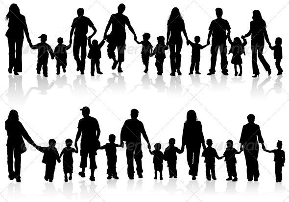 Collect family silhouettes - People Characters