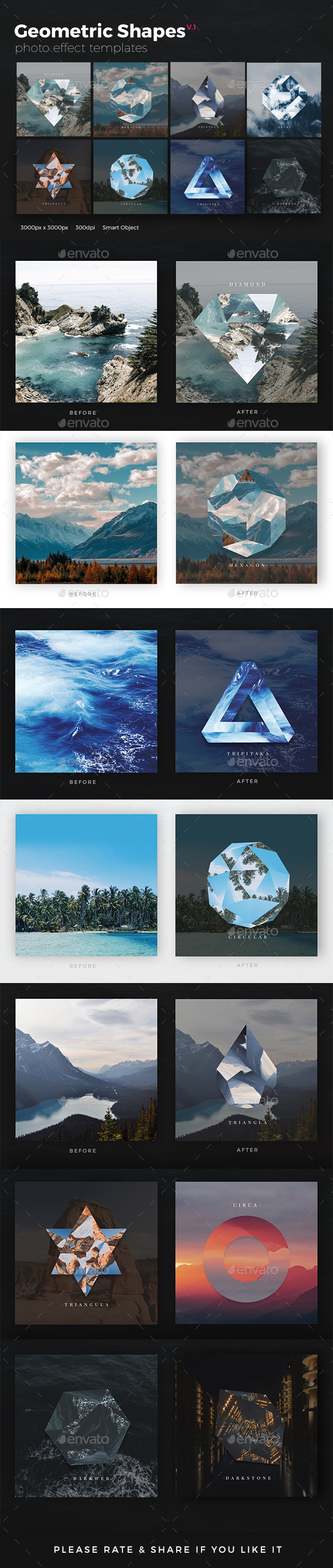 Geometric Shapes Photo Templates v1 - Photo Templates Graphics