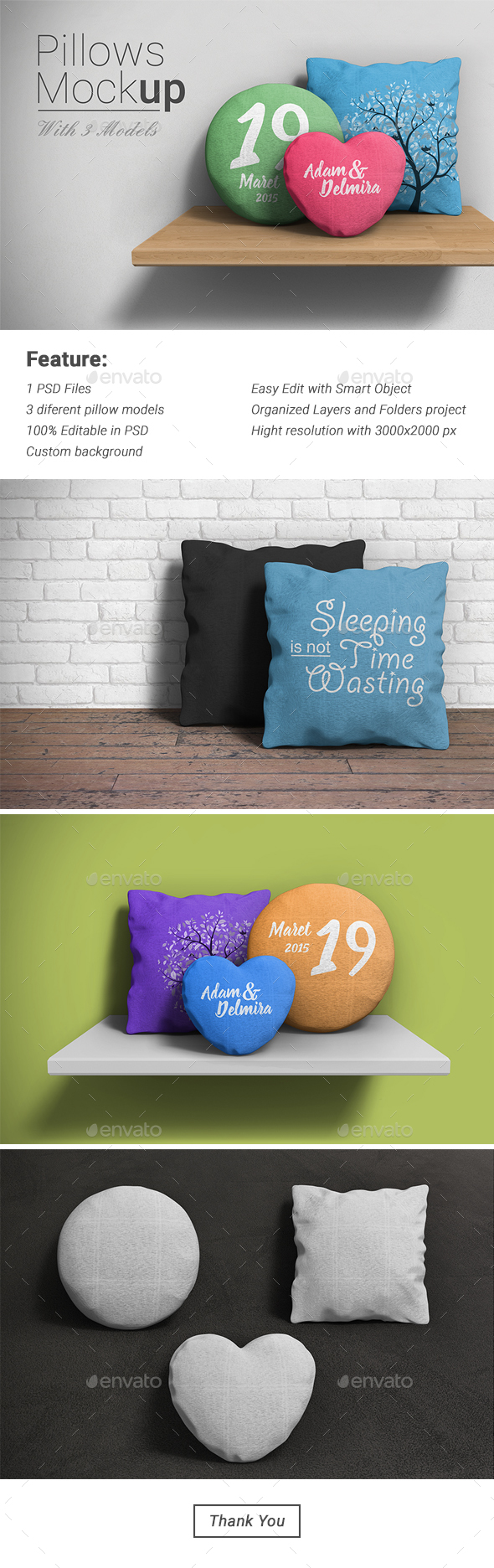 Pillow Mockup - Product Mock-Ups Graphics