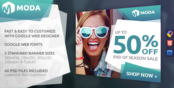 Moda - Fashion HTML5 Ad Template - CodeCanyon Item for Sale