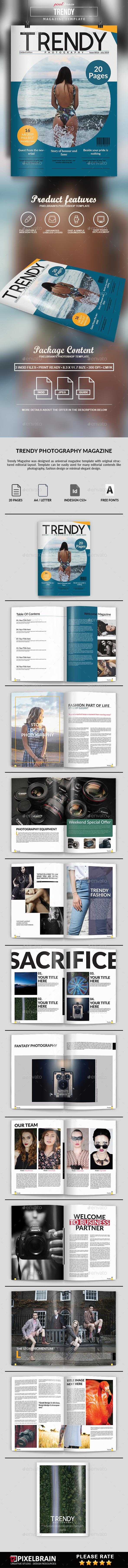 Trendy Magazine - Magazines Print Templates