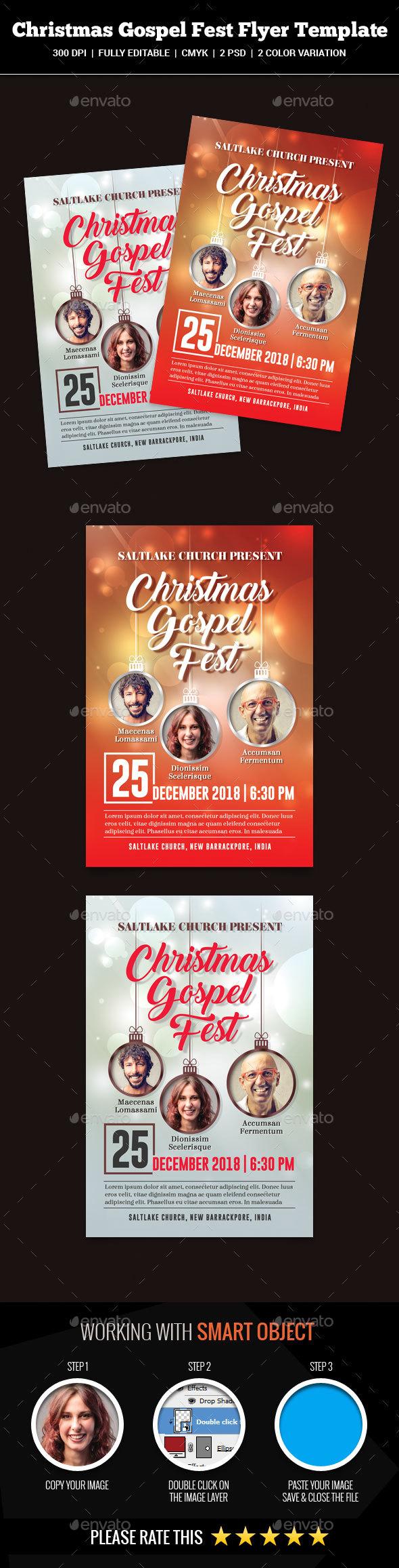 Christmas Gospel Fest Flyer - Church Flyers