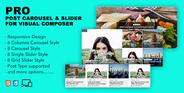 Pro Post Carousel & Slider For Visual Composer - CodeCanyon Item for Sale