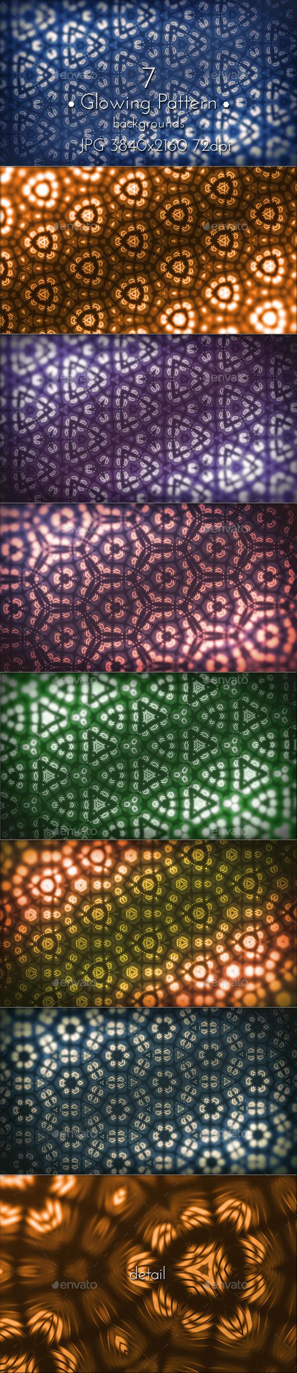 Glowing Pattern Background - Patterns Backgrounds