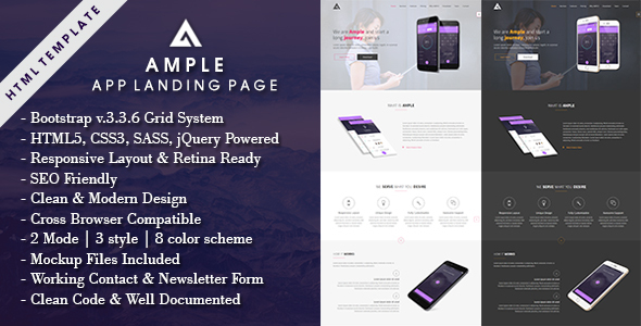 AMPLE – All In One App Landing Page