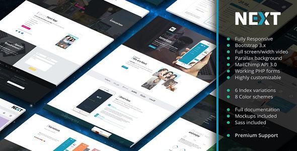 Next – App Landing Page