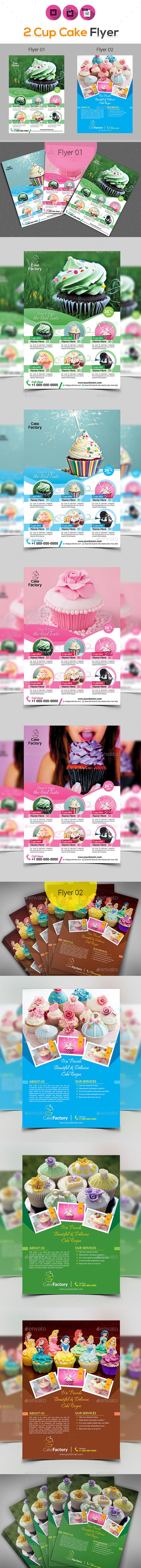Cake Shop Flyer Bundle - Restaurant Flyers