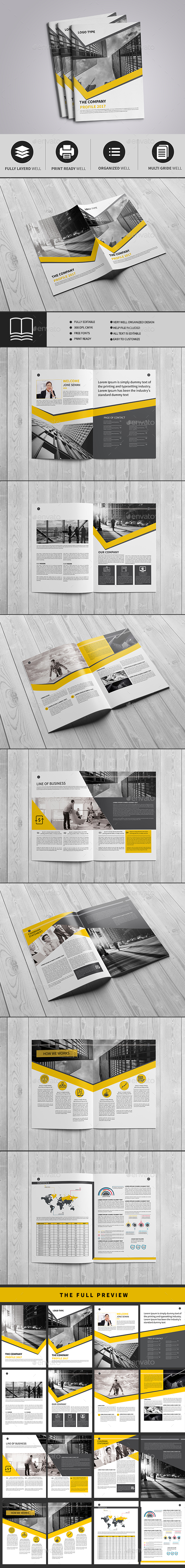 Company Profile A4 - Brochures Print Templates