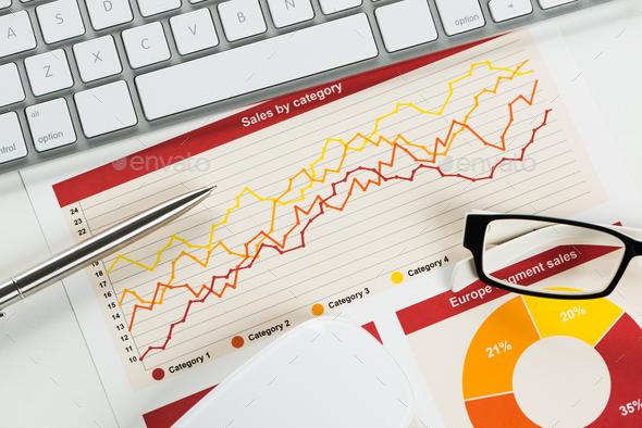 Preparing average sales report - Stock Photo - Images