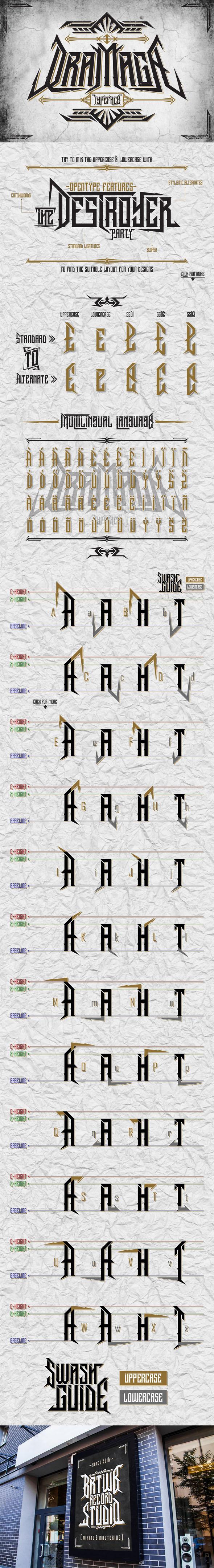 Dramaga Typeface - Gothic Decorative