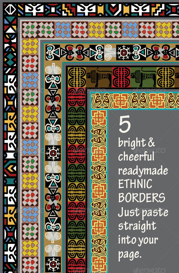 5 Ethnic Borders - Africa Asia Americas - Miscellaneous Backgrounds