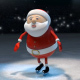 Ice Skating Santa - VideoHive Item for Sale