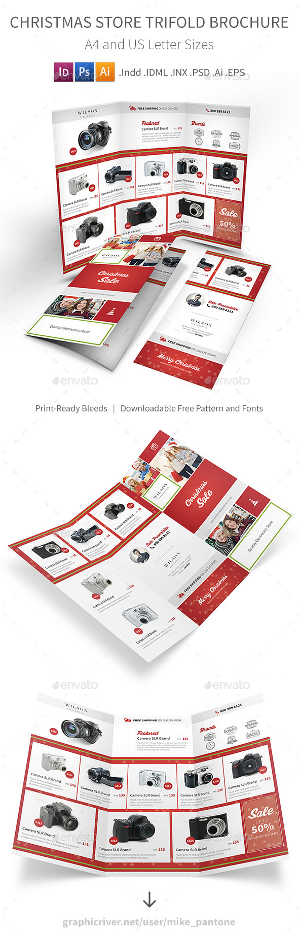 Christmas Store Trifold Brochure - Informational Brochures