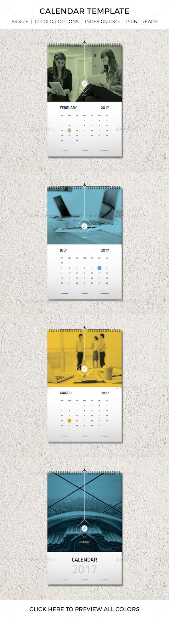 Modern Minimal Calendar Template - Calendars Stationery