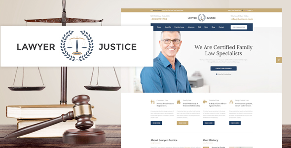 Lawyer Justice – Law Firm Joomla Template