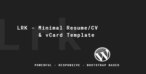 LRK - Creative vCard WordPress Theme