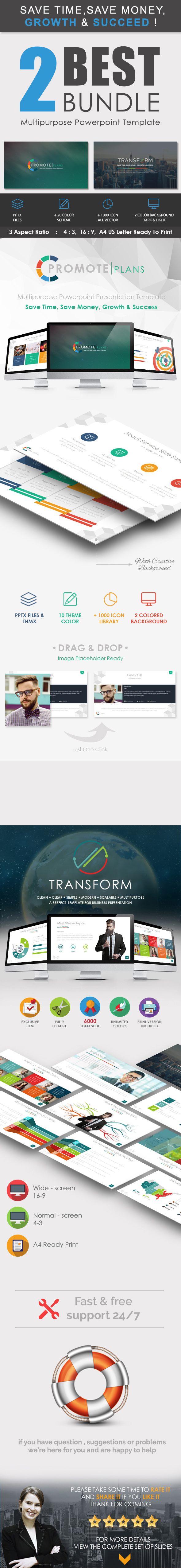 2 IN 1 - Powerpoint Presentation Template - Business PowerPoint Templates