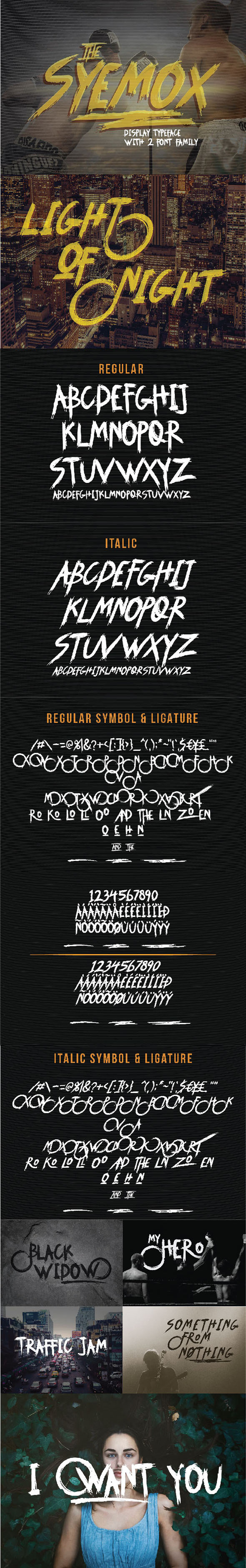 Syemox Brush Font - Fonts