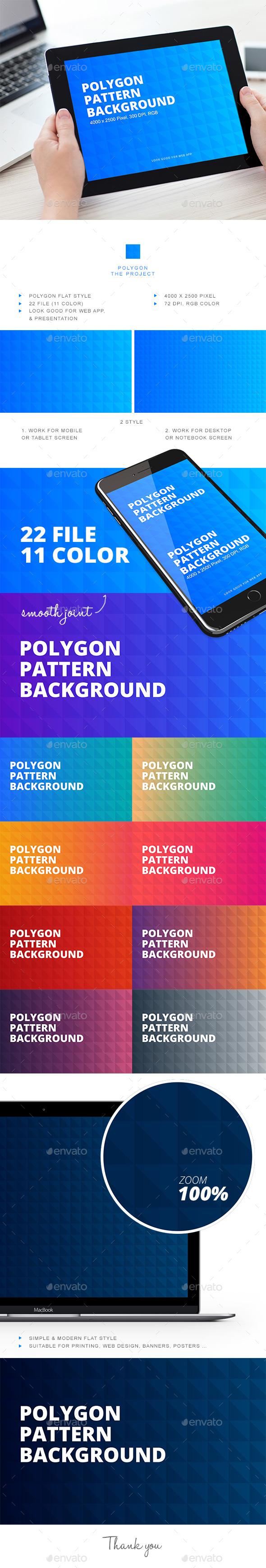 Polygon Pattern Background - Patterns Backgrounds