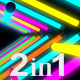 Glow Neon Colorful Lights Tunnel (2-Pack) - VideoHive Item for Sale