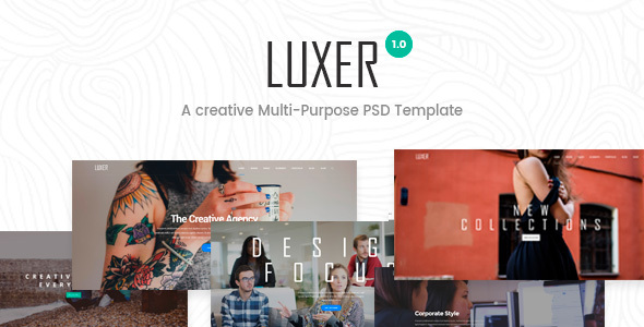 Luxer – Creative Multi-Purpose PSD Template