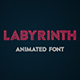 Labyrinth Animated Font - VideoHive Item for Sale