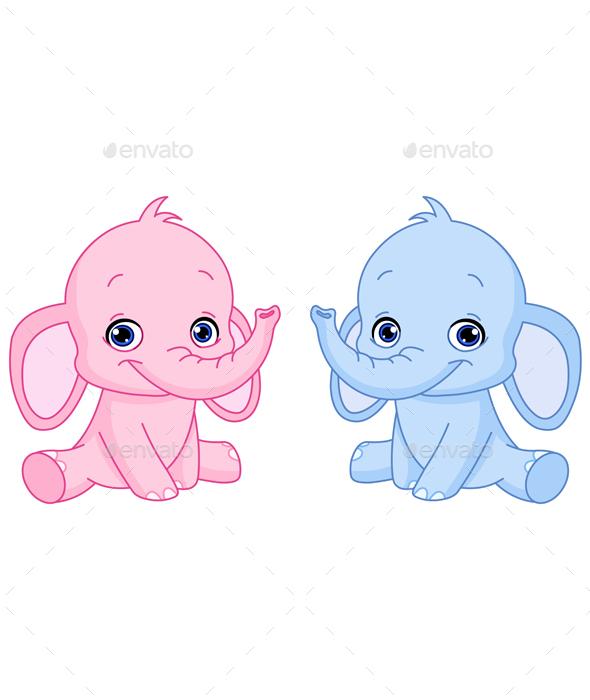 Baby Elephants - Animals Characters