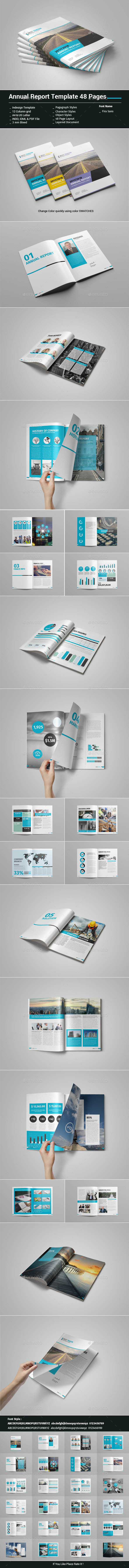 Annual Report Template 48 Pages - Informational Brochures