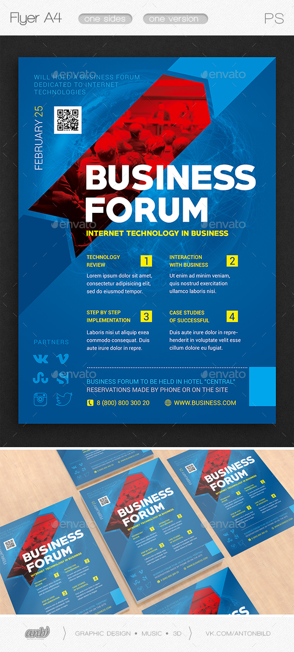 Business forum - Flyers Print Templates