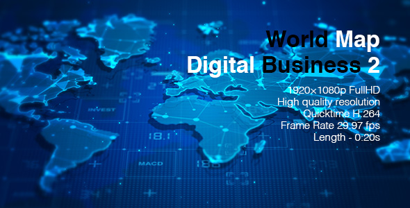World Map Digital Business 2 By BomMan