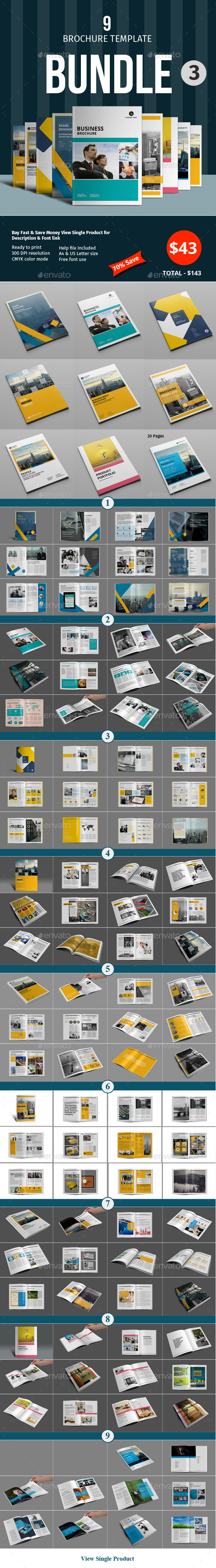 Brochure Template Bundle - 3 - Corporate Brochures