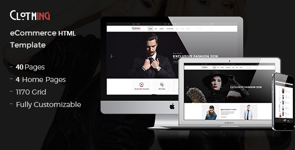 Clothing – eCommerce Fashion Template