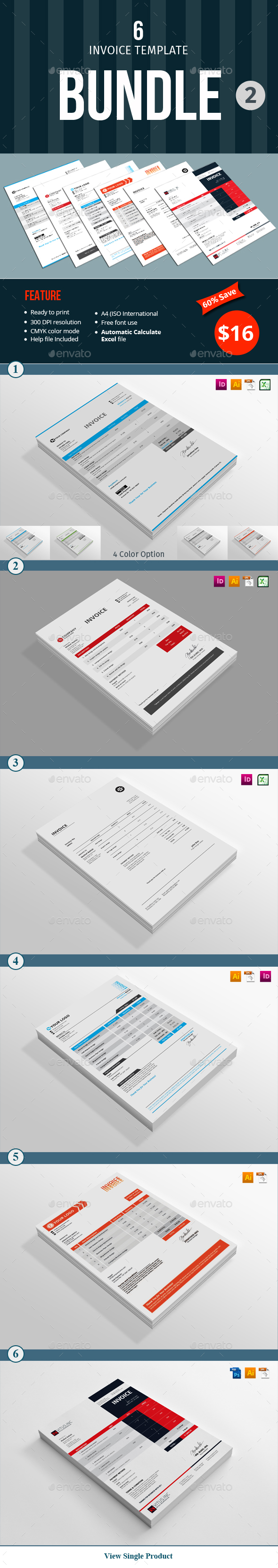 Invoice Template Bundle - 2 - Proposals & Invoices Stationery