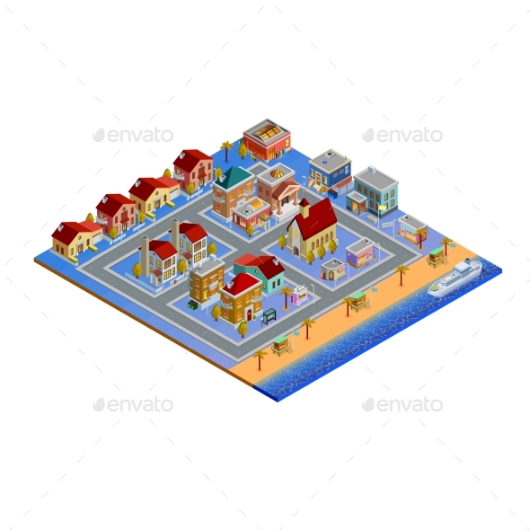 Isometric Building Set - Buildings Objects