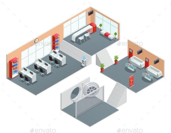 Bank Interior Design - Business Conceptual