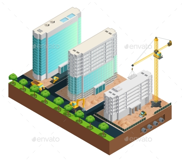 Construction Isometric Composition - Miscellaneous Conceptual