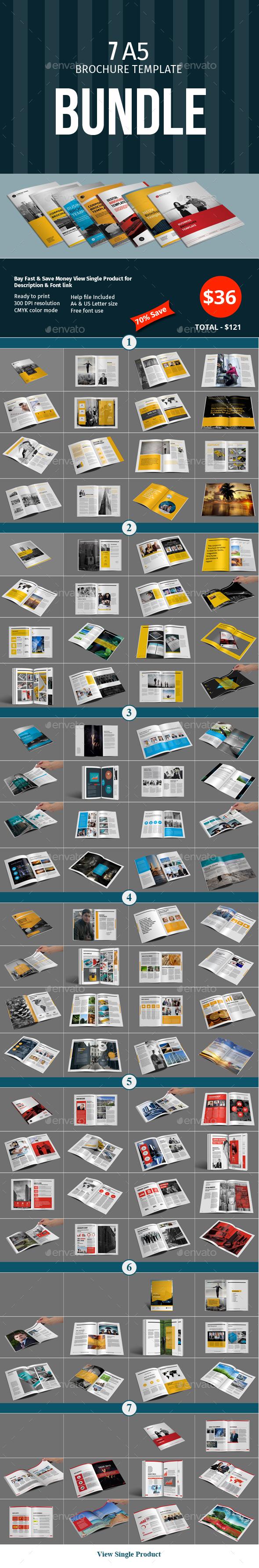 A5 Brochure Template Bundle - Corporate Brochures