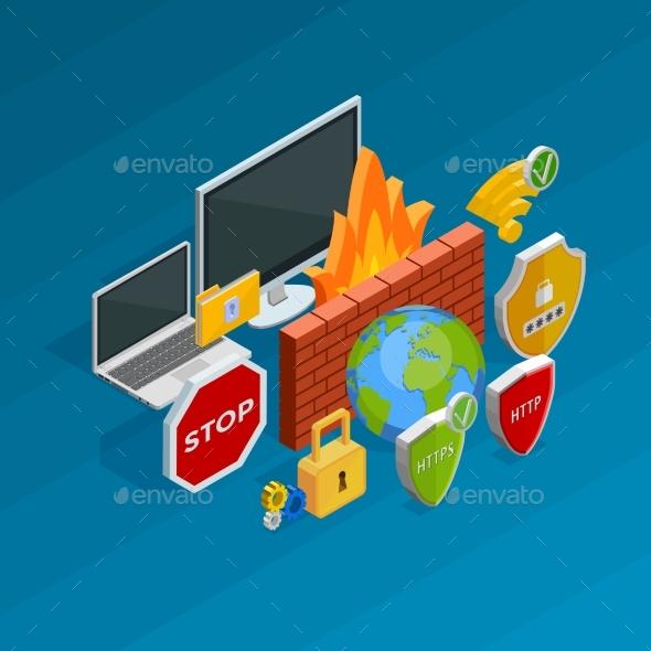 Internet Security Concept - Technology Conceptual