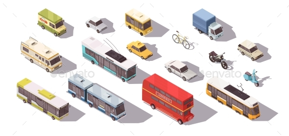 Transport Isometric Set - Man-made Objects Objects