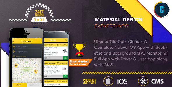 taxi booking app a complete clone of uber with user driver bacend cms coded with native ios. Black Bedroom Furniture Sets. Home Design Ideas