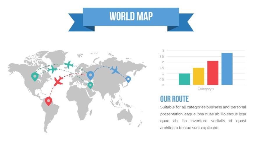 world map ppt template